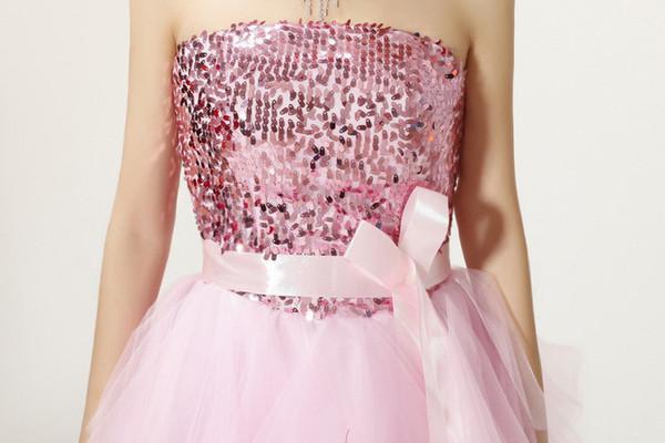 Romantique et délicate la robe de cocktail rose