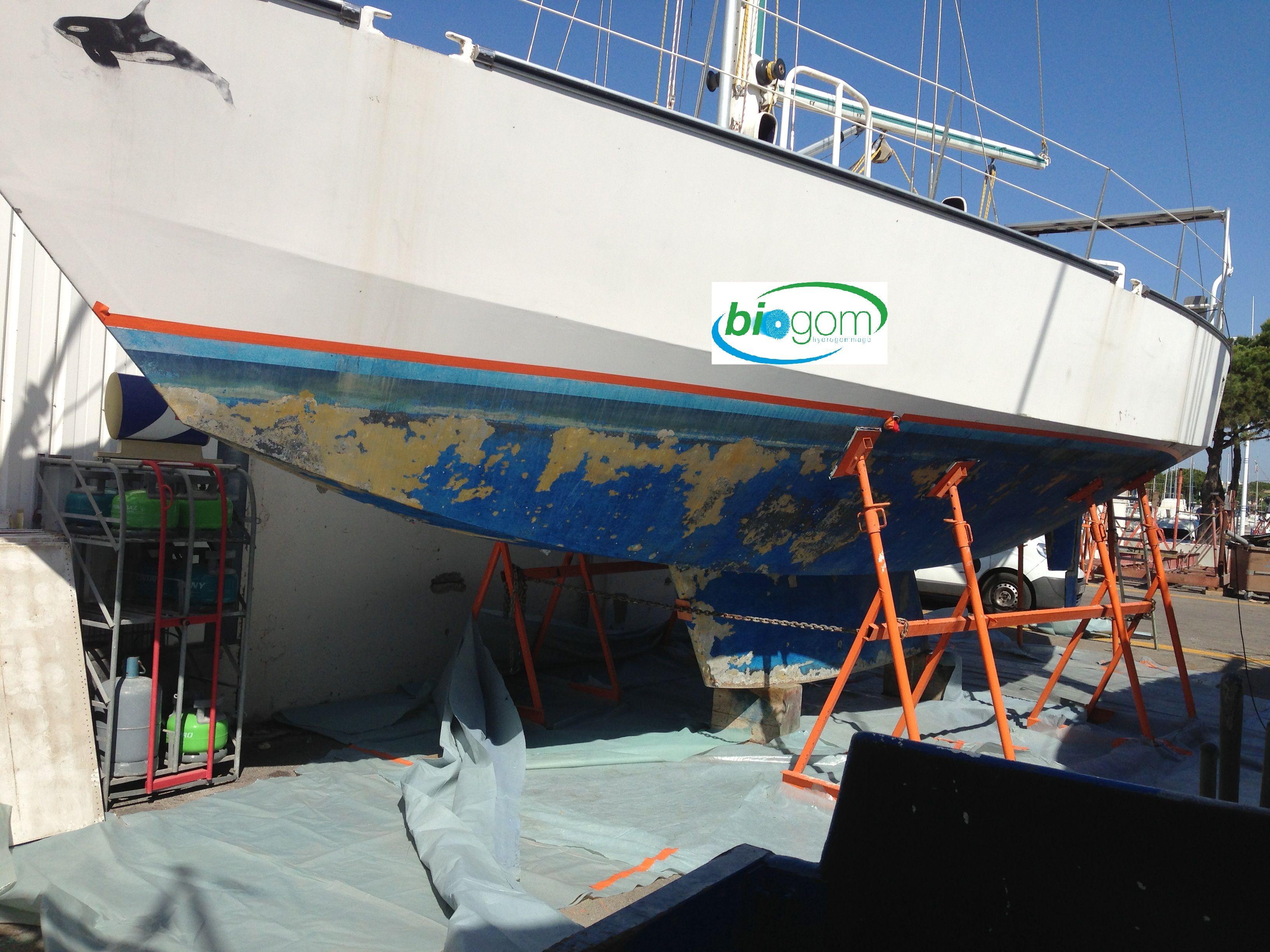 hydrogommage antifouling bateau