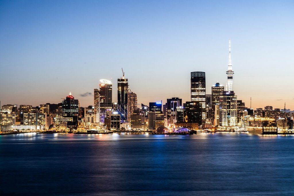 Vue de la ville d'Auckland en Nouvelle-Zéland
